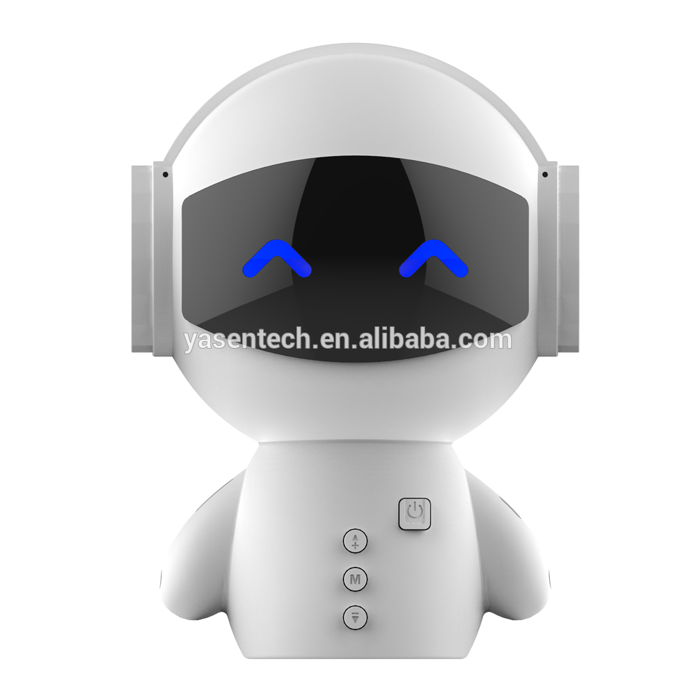 New Innovative Smart Robot Blueototh Speaker With BT CSR 3.0 Plus Bass Music Calls Handsfree TF MP3 AUX And Power Bank Function