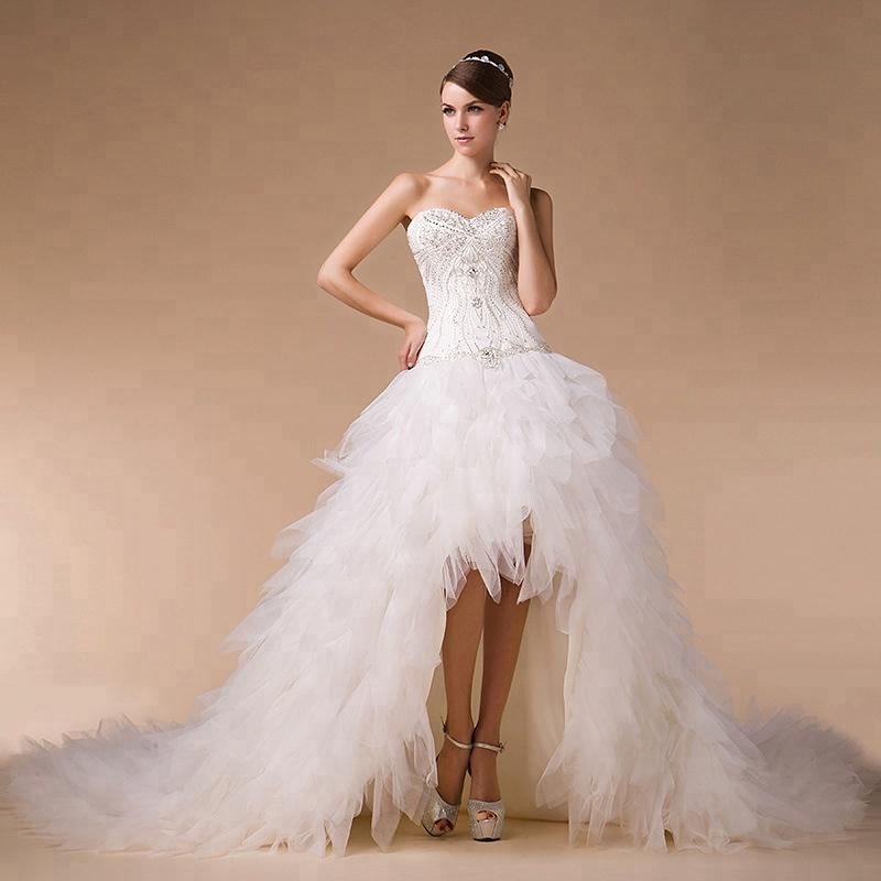 Ivory Wedding Dress Bridal Gown Beading Sexy Short Front Long Back Long Train Wedding Dresses Buy Wedding Dress Bridal Gown Sexy Short Front Long