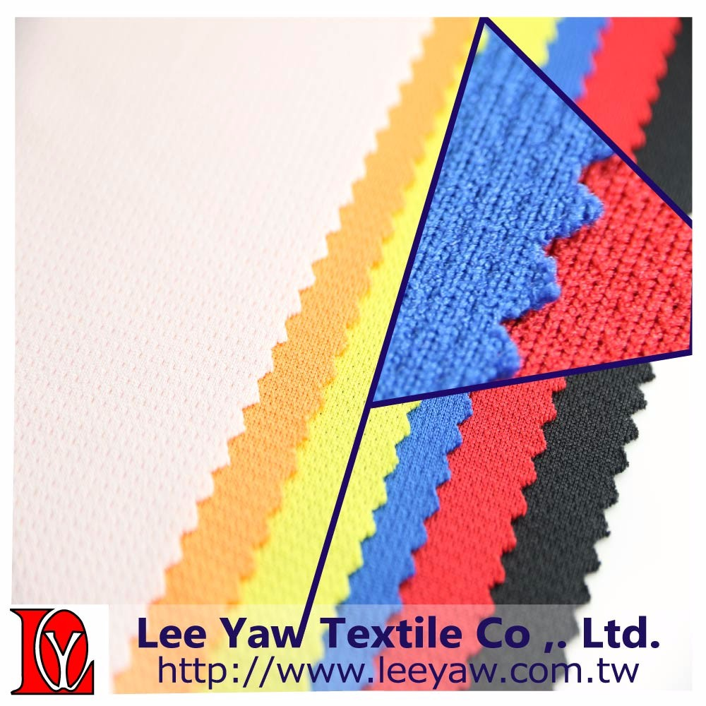 100% polyester mesh fabric with wicking finished