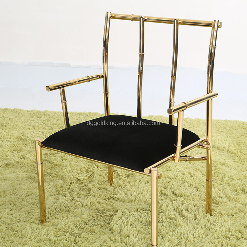 metal Upholstery Fabric top quality gold color dining chair
