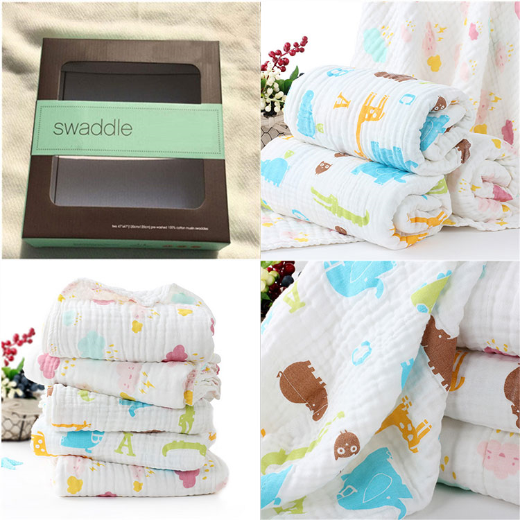 100 % cotton absorbent baby blanket