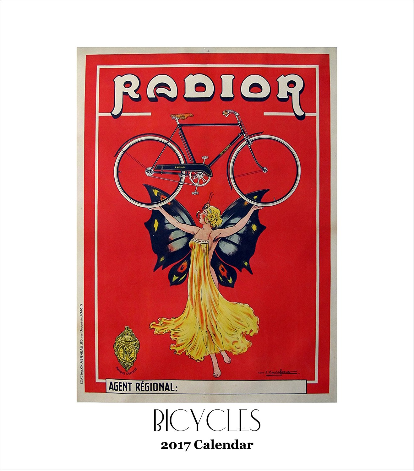 Retrospect Group YCD 026 Bicycles 2017 Desk Calendar
