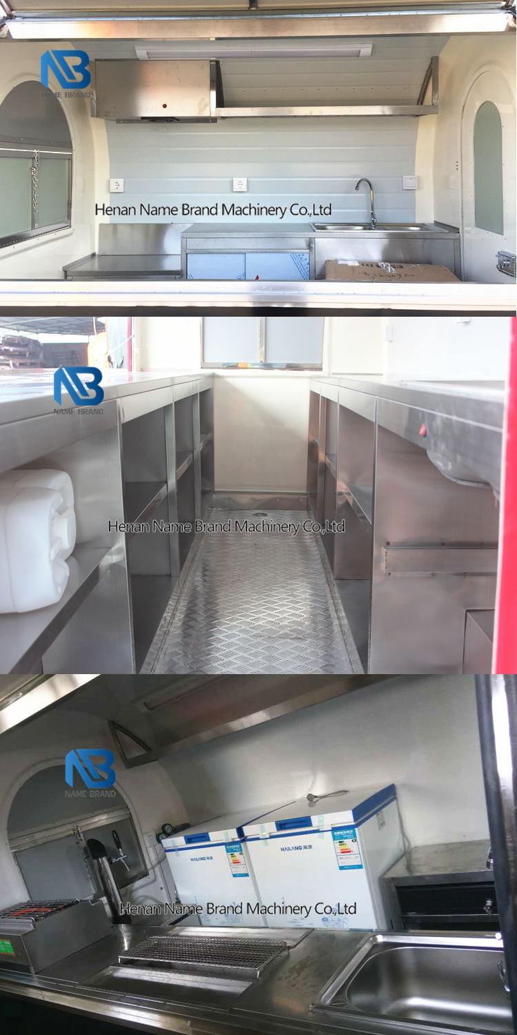 Concession villa style snack car vending trolley trailer with living quarters 2 wheels