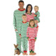 Custom New Mother Father Daughter Son Outfit Family Matching Christmas Red Green Striped Pajamas PJs Sets Jammies
