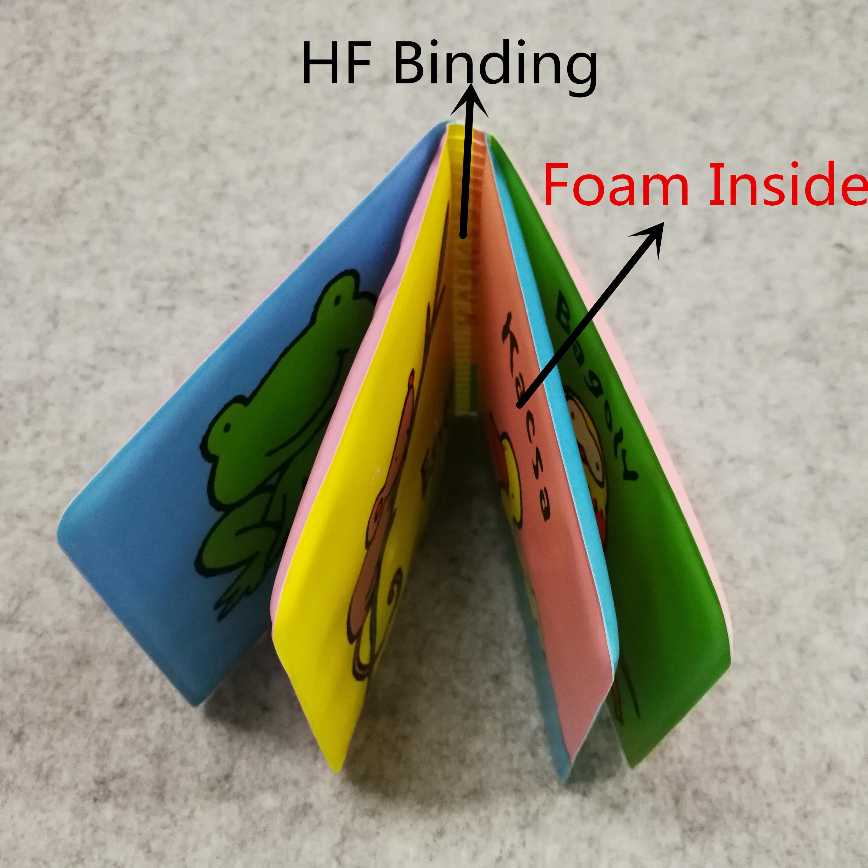 eco friendly custom printing toys Soft EVA foam floating Baby Bath Book for child toy
