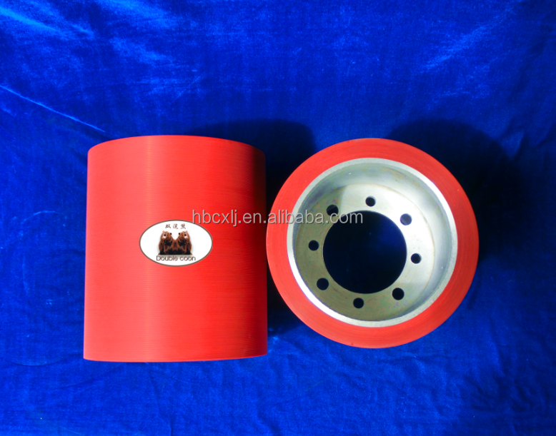 China best seller EPDM dehusking rice rubber roll on aluminium core in red price for rice milling