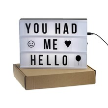 Cinema Led Letter Light Box For Home, Led Slim Light Box