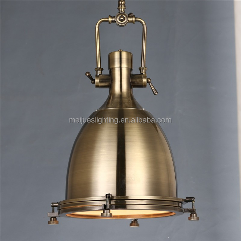 American Rh Style Polished Copper pendant lighting Led Industrial pendant lights