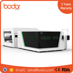 jinan bodor laser Cnc Metal Laser Cutting Machine Price For Stainless / Carbon / Mild Steel / Brass / Copper