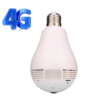 New arrival 360 viewerframe mode 3g sim card security bulb wifi camera