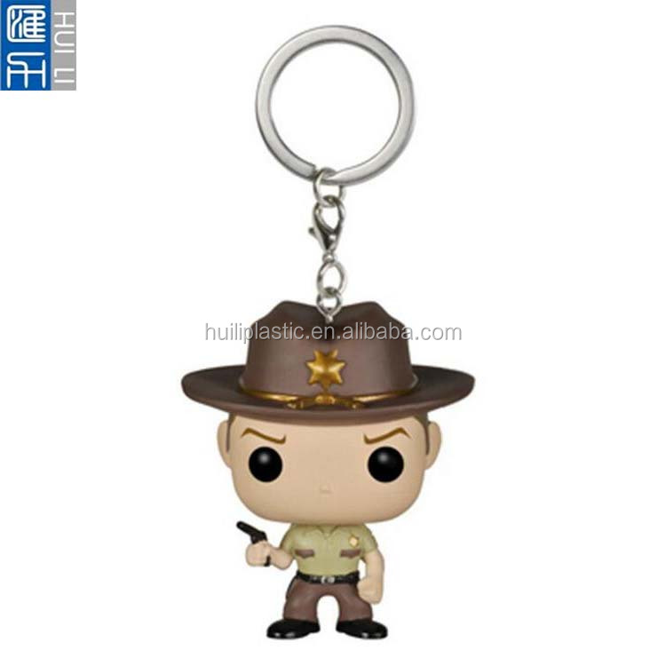 Custom plastic cartoon keychain ,OEM plastic cartoon character keychain ,3D cartoon plastic keychain wholesale
