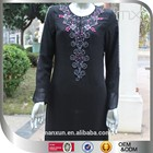 high quality sequins and heavy beading kaftan two layers black abaya