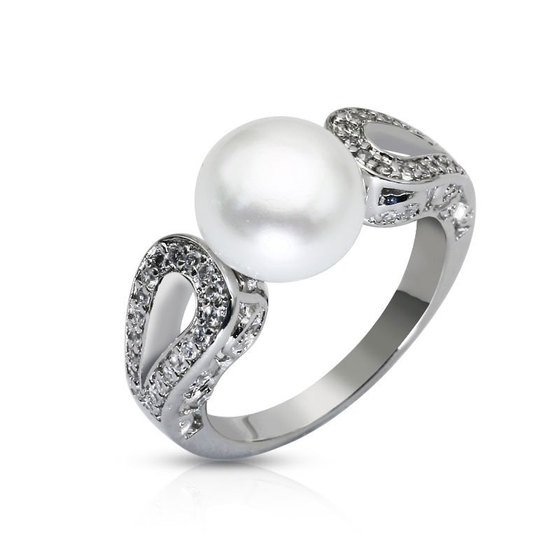 Relatively 925 Silver Pearl Engagement Ring Designs - Buy Pearl Ring Designs  PJ56