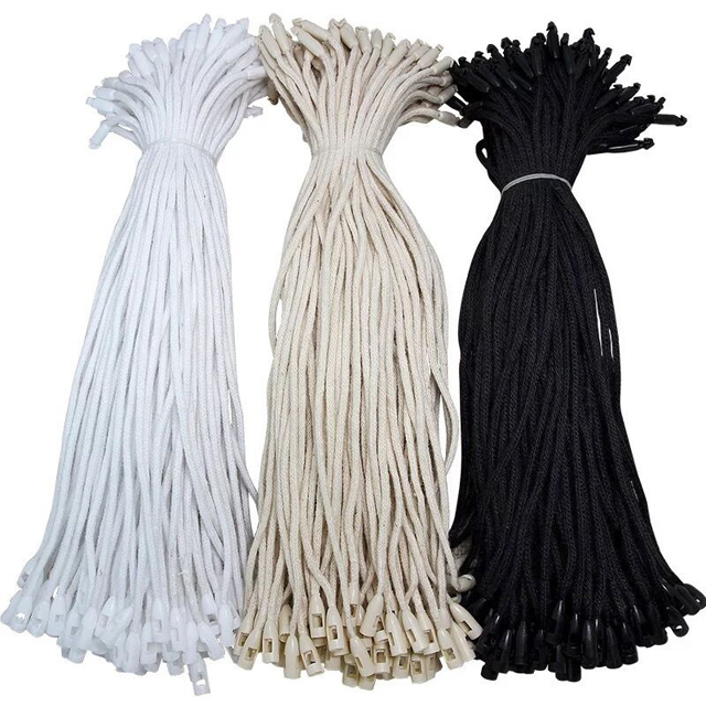 Hot Sale Snap Lock BulletHead Seal Hangtag String Plastic Hang Tag String For Garment