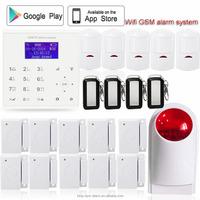 LCD display 868/433mhz WIFI/GPRS/GSM vibration sensor antitheft alarm with Android /IOS APP control