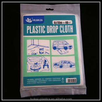 drop cloth 4m10m cheap waterproof dustproof painting protecting plastic painter drop cloth