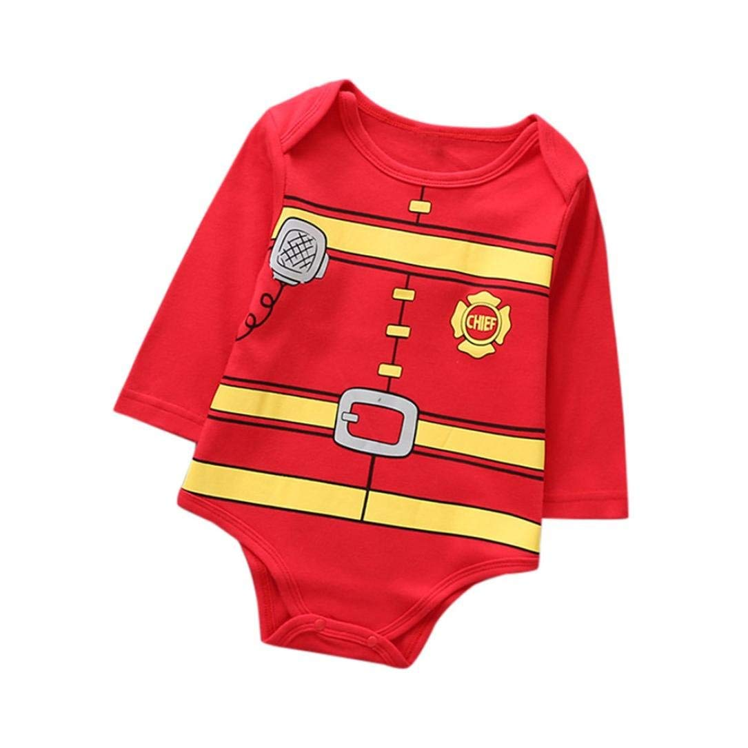 23901de2d2 Get Quotations · Baby Christmas Outfits! Odeer Baby Girl Boy Clothes Print  Romper Jumpsuit Pajamas