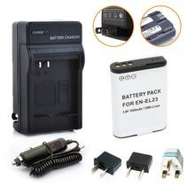 EN-EL23 EN EL23 Rechargeable Li-ion Battery + charger + Plug Adapter for Nikon COOLPIX P600 S810c P900 P610 Camera Free Shipping