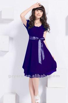 174906447 Vestidos de fiesta para los jóvenes mujeres niñas con manga larga corta  tela desgaste de las
