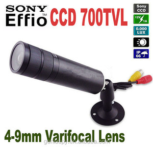 "CCTV Security 1/3"" Sony Effio-E D-WDR CCD 700TVL Mini Bullet Camera 4-9mm Waterproof Varifocal Lens Outdoor &Indoor Use"