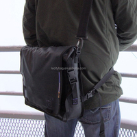 New Multifunctional black waterproof belt crossbody sling bag shoulder bag