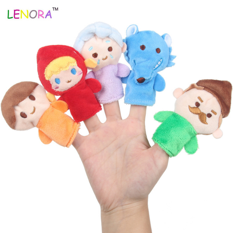 Factory wholesale red plush manufacturers customized logo flying birds personality branded soft plush hand puppets finger toys