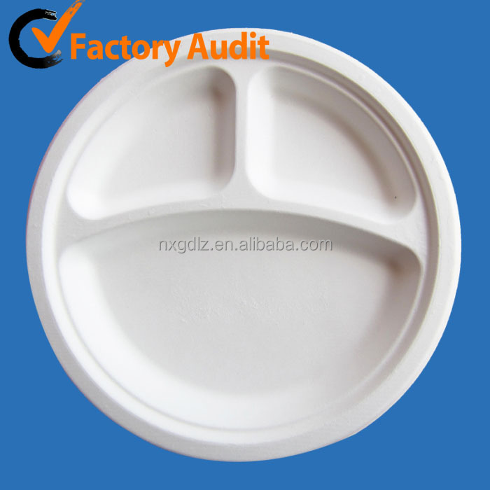 YP09-1 Biodegradable disposable paper plate