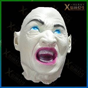 2015 - X-MERRY WEIRD HAUNTED HOUSE LATEX ANGRY ROAR ZOMBIE HALLOWEEN DECORATION ADULT DEAD CORPSE HEAD PROPS