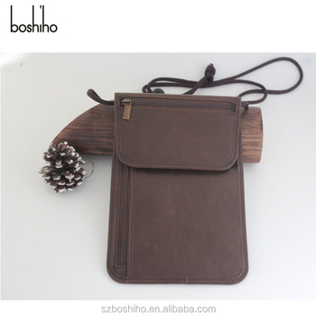 584b287a906 Best Seller custom leather travel wallet rfid-blocking passport wallet  waterproof neck wallet