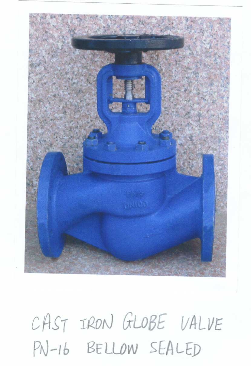C. I. Bellow Sealed Globe Valve