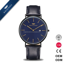 Hot sale japan movt wrist watch stainless steel back water resistant 30m, slim stone quartz watch from china supplier
