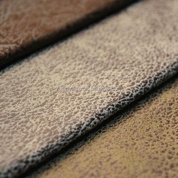 Fashion Golen Printed Suede Leather