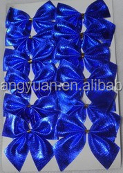 Shiny Blue Small Bowknot For Xmas Mall Tree Decoration/Indoor &Outer Door Decoration