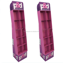 Promotional custom retail cardboard book display stand
