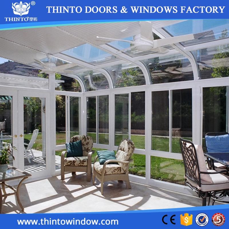 Hermosas grandes marcos de aluminio grande acristalada de vidrio ...