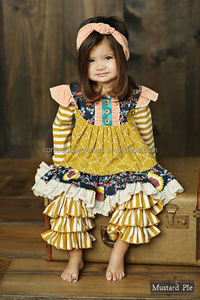 remake ruffle dress outfits wholesale children's boutique clothing