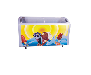 298L Hot Sale Sliding Glass Door Ice Cream Fridge For Supermarket Store Restaurant