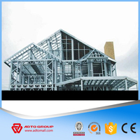 ADTO Group Steel Framing Frabrication Roof Truss Design Painted Structural Steel Work Prefab House Plan 2016 with High Quality