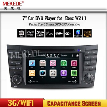 Touch Screen 7 Inch Wince6 0 Car Dvd With Gps Navigation System For  Mercedes-benz W211 - Buy Bluetooth Car Dvd Player,For W211 Car Dvd,7 Inch  Car Gps