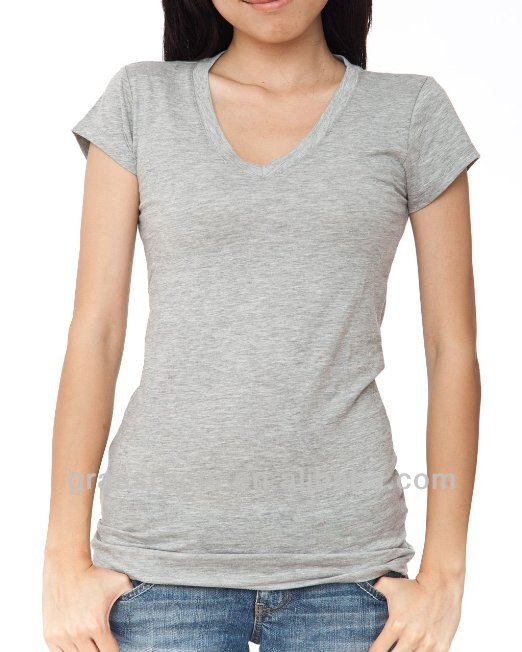 Hot Selling Woman Summer Fitted Blank Slim Fit 100% Cotton Plain T-shirts