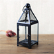Decorative Black Hanging Iron Candle Lantern
