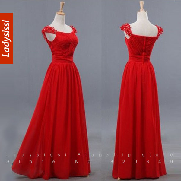 2014 new arrival formal evening dress chiffon long design - Designer red carpet dresses ...