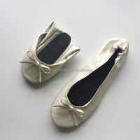 Musical Events pearl roll on pumps ballet flat with personal logo printed