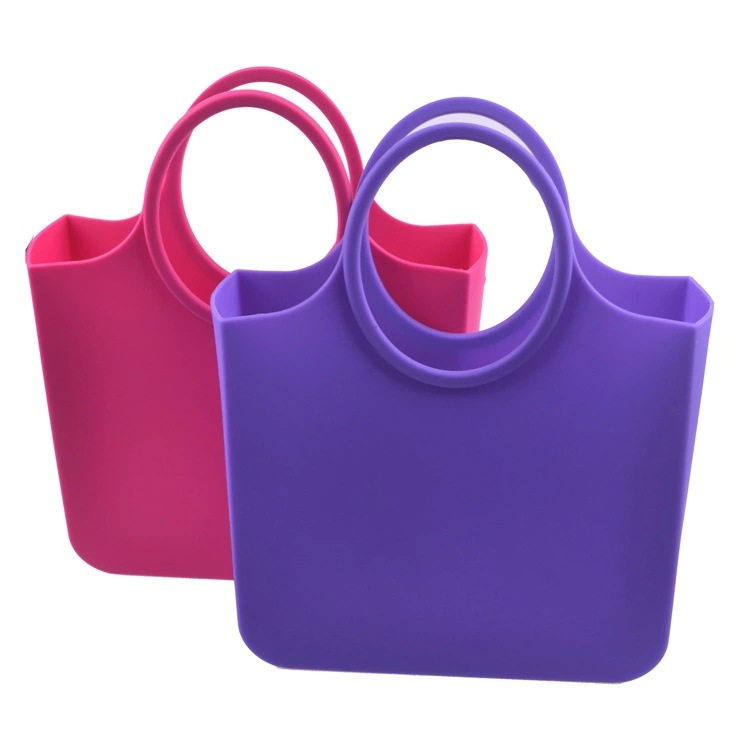 China factory wholesale jelly candy color bags woman silicone women's bag