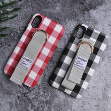 Promotion delicate gift simple wrapped England style plaid canvas for iphone X phone case