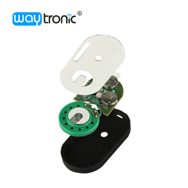 Stick-on type light sensor activated small pcb circuit board with housing