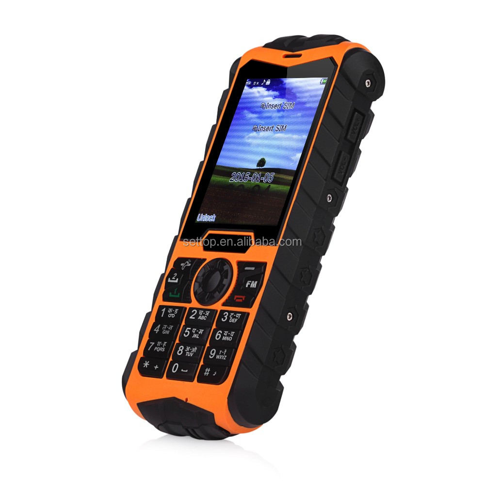 2 4 Inch Huadoo H3 Ip68 Rugged Waterproof Mobile Phone Dual Sim Card Tough Work Phones 3g Feature