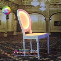 designer French louis banquet chair with led lighting