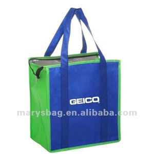 Two-Tone Aluminum Insulated Tote Bags Made of Non-woven
