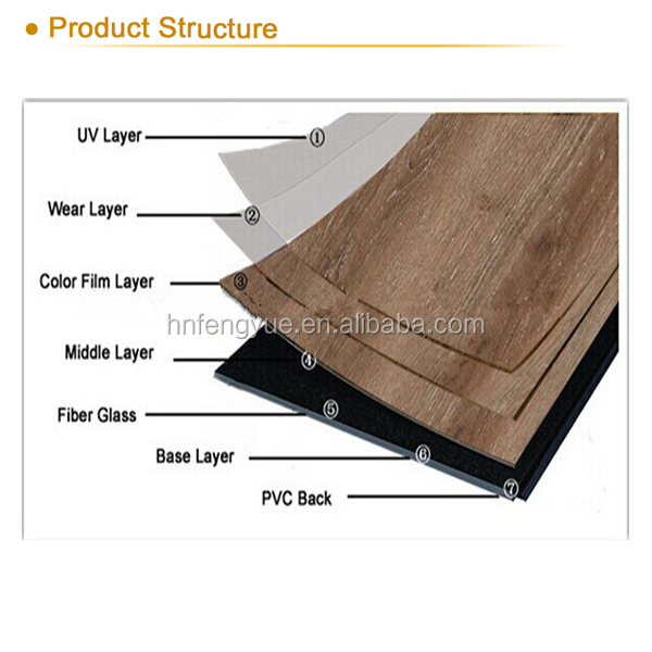 Good Price 5mm Thick Loose Lay Pvc Flooring 05mm Wear Layer Vinyl